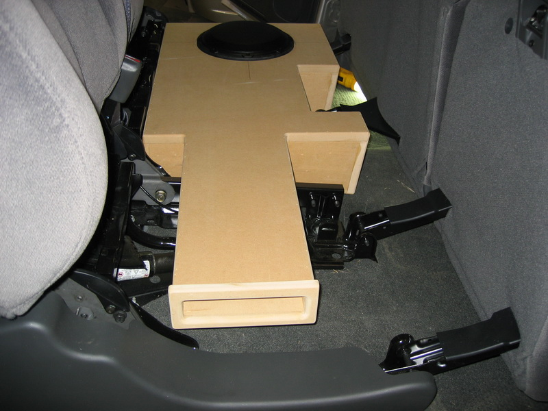 Sub enclosure under rear seat 06 chevy crew cab port side