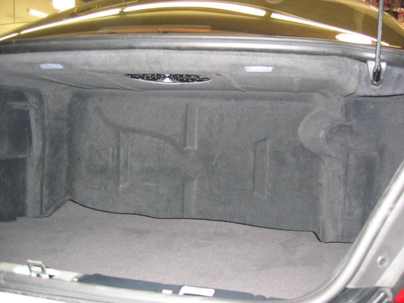 Mercedes S55 factory trunk