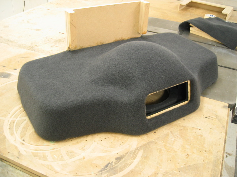 Mercedes S55 Sub box with carpet