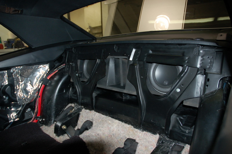 Custom Sub Enclosure mounted in the car